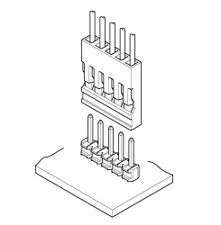 Schematic photo of RE Connector