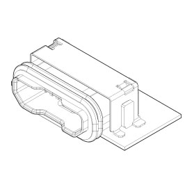 Schematic photo of UB Connector Micro USB (Waterproof)