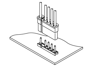Schematic photo of V Connector