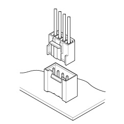 Schematic photo of VH Connector (High box type)