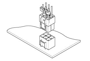 Schematic photo of VL Connector (W to B)