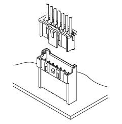 Schematic photo of XA connector (High box type)