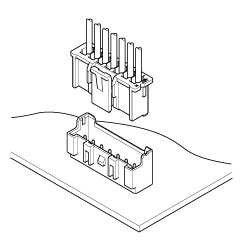 Schematic photo of XA Connector (W to B)
