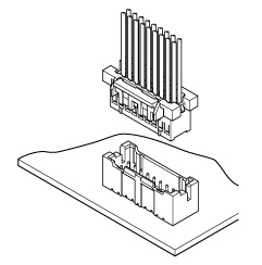 Schematic photo of XAD Connector (W to B)
