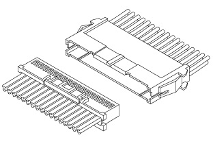 Schematic photo of XAD connector (W to W)