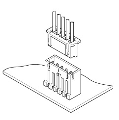 Schematic photo of XH Connector (High box type)