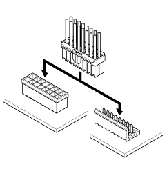 Schematic photo of XL Connector (W to B)