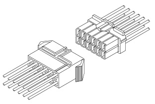 Schematic photo of XL connector (W to W)