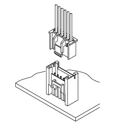 Schematic photo of XM Connector (High box type)