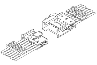 Schematic photo of XM connector (W to W)